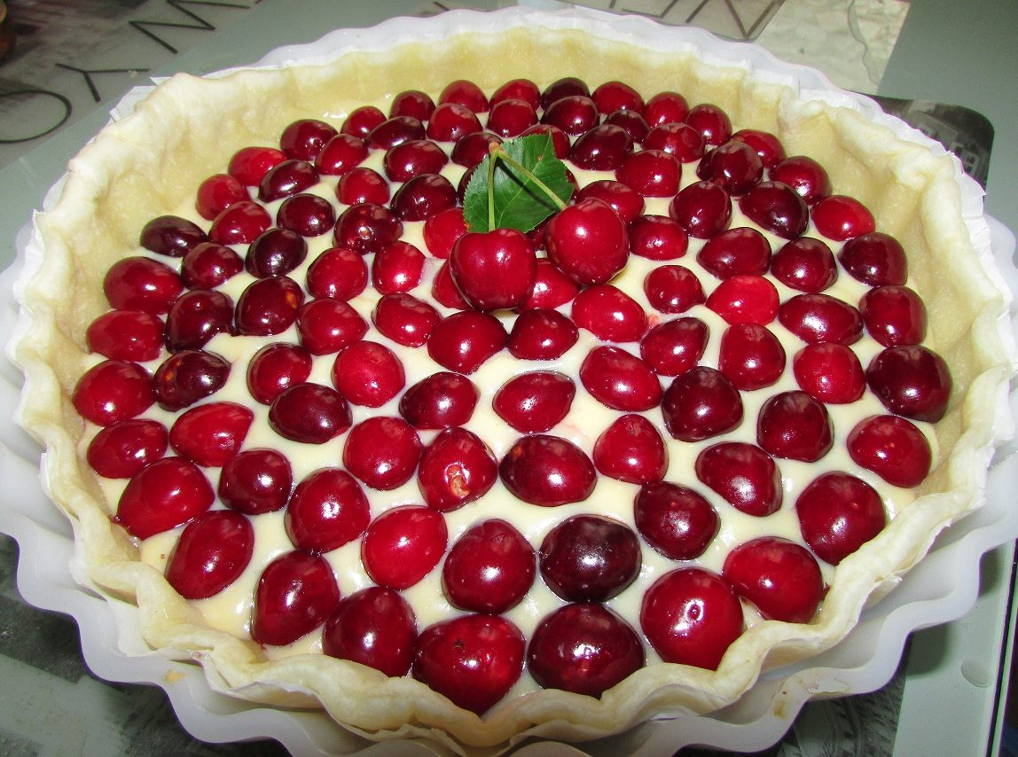 Tarte aux cerises for Dessert avec des cerises fraiches